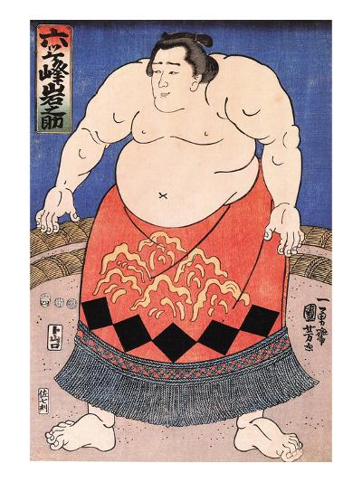 The Sumo Wrestler 2-Kuniyoshi Utagawa-Giclee Print