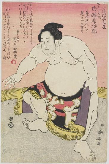 The Sumo Wrestler Shirataki Saijiro-Ryuryukyo Shinsai-Giclee Print