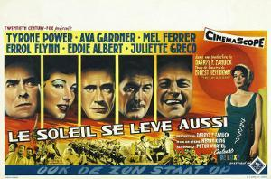 The Sun Also Rises, Belgian Movie Poster, 1957
