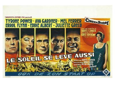 The Sun Also Rises, Belgian Movie Poster, 1957--Art Print