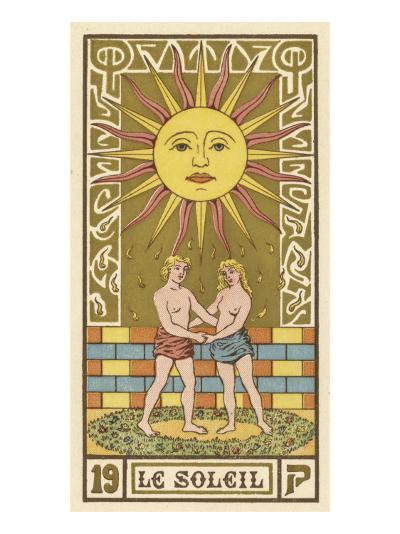 The Sun Depicted on a Tarot Card--Giclee Print