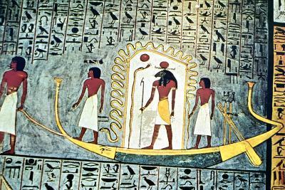 The Sun God Ra, Boat Scene--Giclee Print
