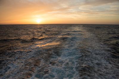 The Sun Rises Above the Horizon as Waves and Wake are Visible, Isla Coiba National Park-Eric Kruszewski-Photographic Print