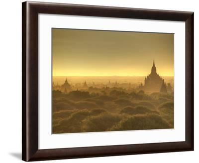 The Sun Rises across the 2000+ Temples and Pagodas at Bagan in the Country of Burma (Myanmar)-Kyle Hammons-Framed Photographic Print