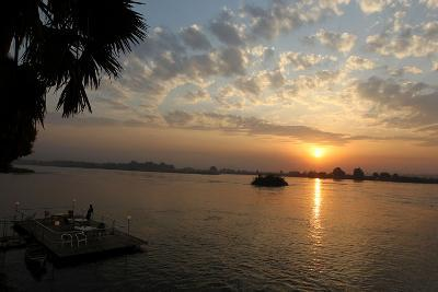 The Sun Rises Behind the Nile River in Juba, Southern Sudan-Mohamed Messara-Photographic Print