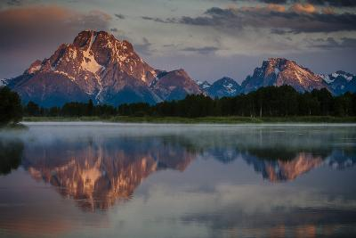 The Sun Rises Through The Clouds At Oxbow Bend In Grand Teton National Park, Wyoming-Jay Goodrich-Photographic Print