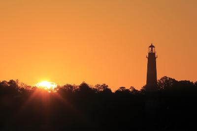 The Sun Rising Next to the Assateague Lighthouse-Robbie George-Photographic Print