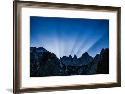 The Sun Sets Behind Mount Whitney-Ben Horton-Framed Photographic Print