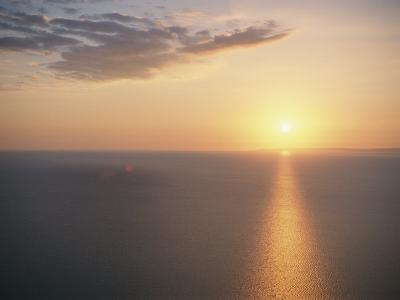 The Sun Sets over Lake Superior-Raymond Gehman-Photographic Print