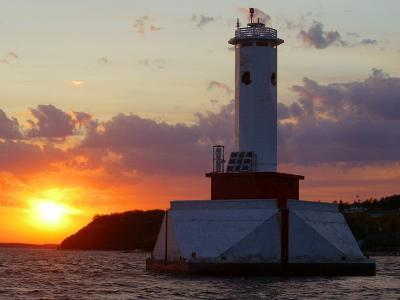 The Sun Sets Over Mackinac Island--Photographic Print