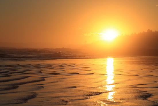The Sun Sets over Maine's Higgins Beach in Wintertime-Robbie George-Photographic Print