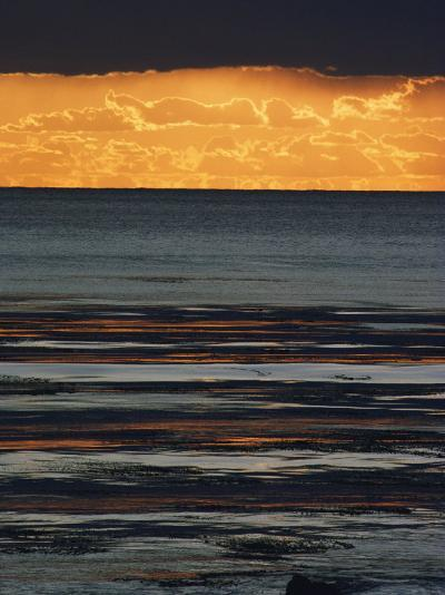 The Sun Sets over the Pacific Ocean off Shell Beach-Marc Moritsch-Photographic Print