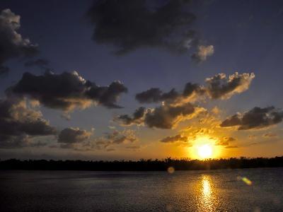 The Sun Setting over the Intracoastal Waterway-Raymond Gehman-Photographic Print