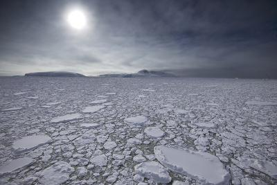 The Sun Shines over Ice Pack in the Grandidier Channel-Jim Richardson-Photographic Print
