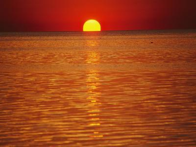 The Sun Sinks into Pamlico Sound-Stephen St^ John-Photographic Print