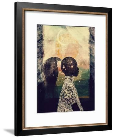 The Sun, Stars and Moon-Erin K. Robinson-Framed Premium Giclee Print