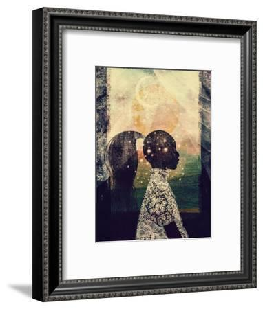 The Sun, Stars and Moon-Erin K. Robinson-Framed Art Print