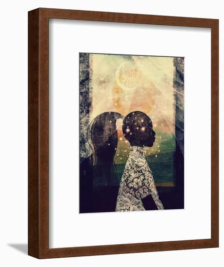 The Sun, Stars and Moon-Erin K. Robinson-Framed Art Print