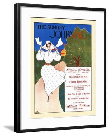 The Sunday Journal-Ernest Haskell-Framed Art Print