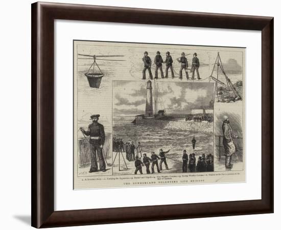 The Sunderland Volunteer Life Brigade--Framed Giclee Print