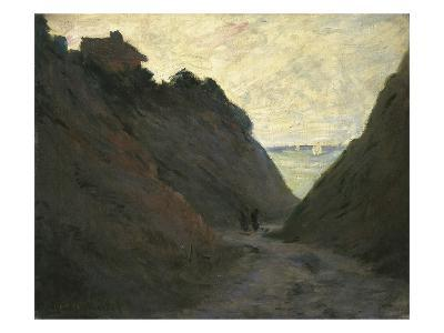The Sunken Road in the Cliff at Varengeville-Claude Monet-Giclee Print