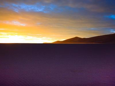 The Sunset Lights Up Sand Blowing across the Colorado Dunes-Ben Horton-Photographic Print
