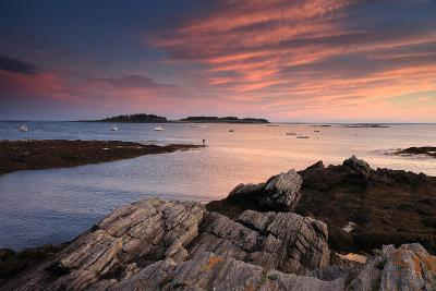 The Sunset over Casco Bay-Robbie George-Photographic Print