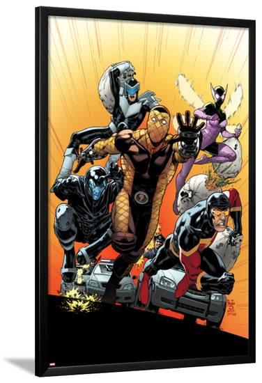 The Superior Foes of Spider-Man #4 Cover: Shocker, Boomerang, Beetle, Speed Demon, Overdrive-Paulo Siqueira-Lamina Framed Poster