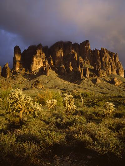 The Superstition Mountains in Lost Dutchman State Park, Arizona-Greg Probst-Photographic Print
