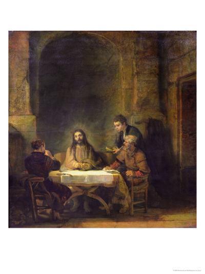 The Supper at Emmaus, 1648-Rembrandt van Rijn-Giclee Print