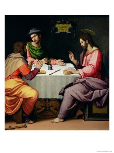 The Supper at Emmaus, c.1520-Ridolfo Ghirlandaio-Giclee Print