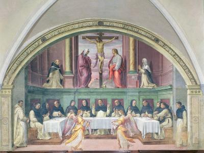 The Supper of St. Dominic, Lunette-Giovanni Antonio Sogliani-Giclee Print
