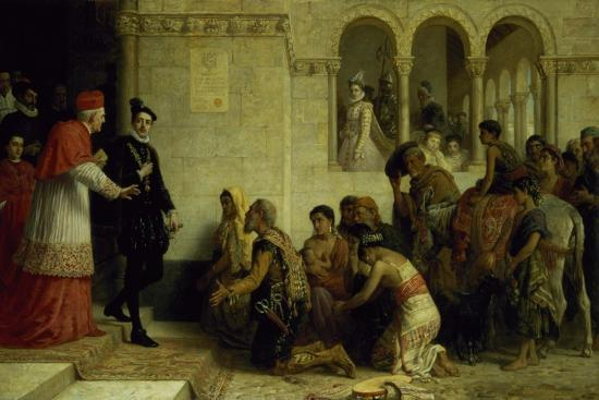 The Supplicants. the Expulsion of the Gypsies from Spain, 1872-Edwin Longsden Long-Giclee Print