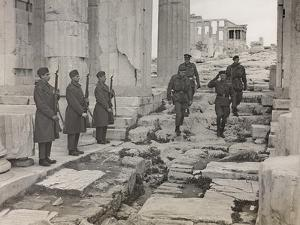 The Supreme Allied Commander Sir Harold Alexander Visiting the Acropolis of Athens