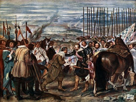 The Surrender of Breda, June 2Nd, 1625, (C163)-Diego Velazquez-Giclee Print