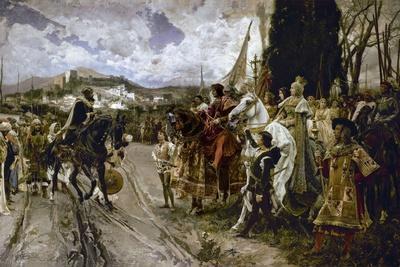 Francisco Pradilla Ortiz The Capitulation of Granada Giclee Canvas Print