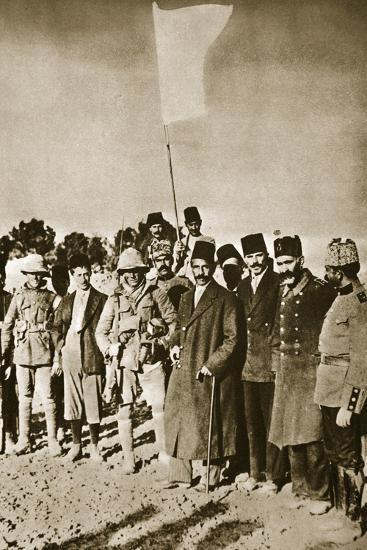 The surrender of Jerusalem, World War I, 1917-Unknown-Photographic Print