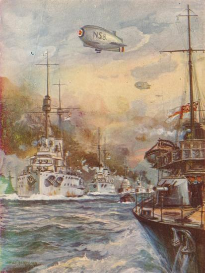 'The Surrender of the German High Seas Fleet', 1918 (1919)-Charles John De Lacy-Giclee Print