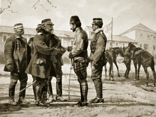 The Surrender of Yanina, 1913, Illustration from 'Hutchinson's History of the Nations', 1915--Giclee Print