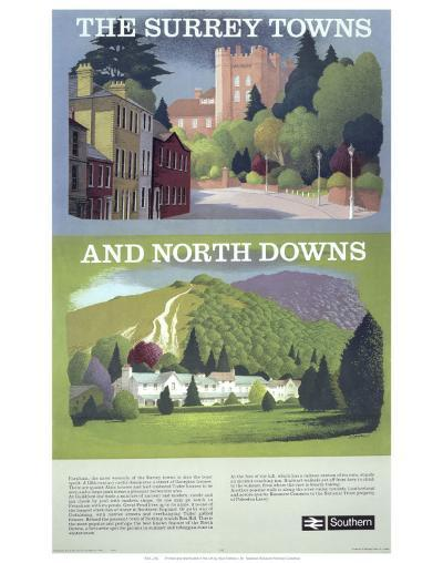 The Surry Towns and North Downs--Art Print