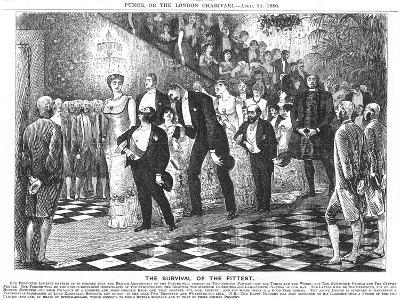 The Survival of the Fittest'; Application of Darwinism in the 21st Century, 1880-George Du Maurier-Giclee Print