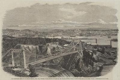 The Suspension Bridge over the River St John--Giclee Print