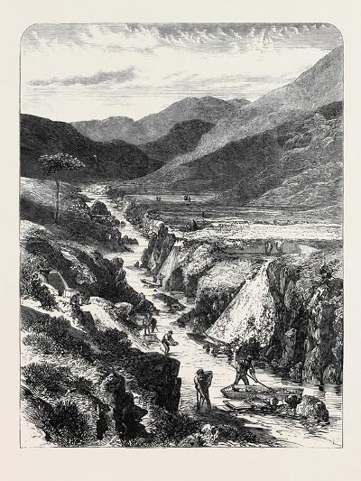 The Sutherlandshire Gold Diggings: Kildonan Burn 1869--Giclee Print