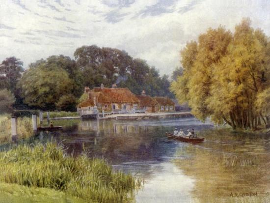 The Swan Inn, Pangbourne-Alfred Robert Quinton-Giclee Print