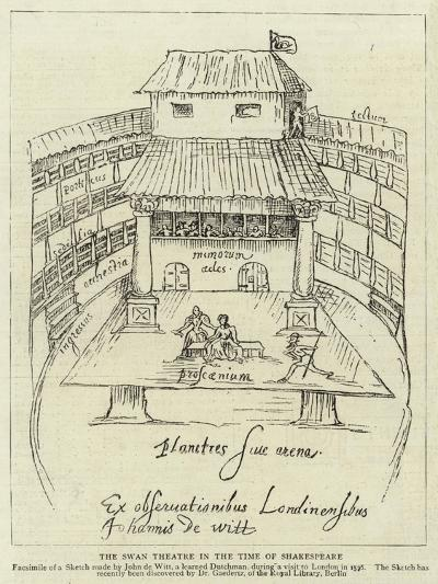 The Swan Theatre in the Time of Shakespeare--Giclee Print