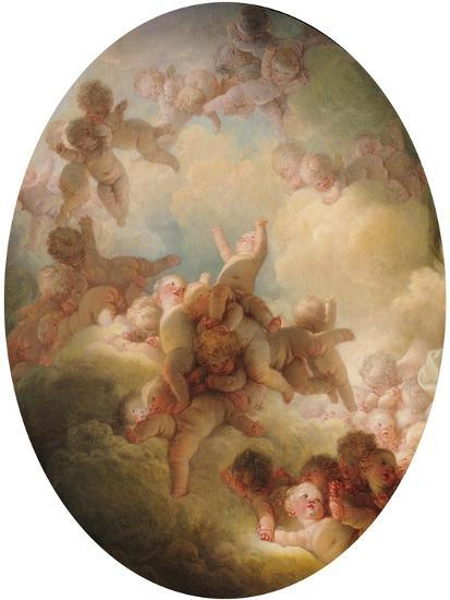The Swarm of Cupids, circa 1767-Jean-Honor? Fragonard-Giclee Print
