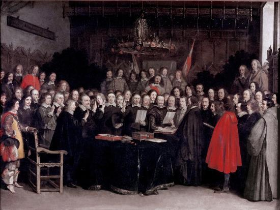 The Swearing of the Oath of Ratification of the Treaty of Munster, 1648-Gerard Terborch-Giclee Print