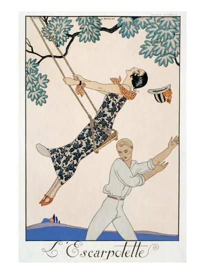 The Swing, 1923-Georges Barbier-Giclee Print