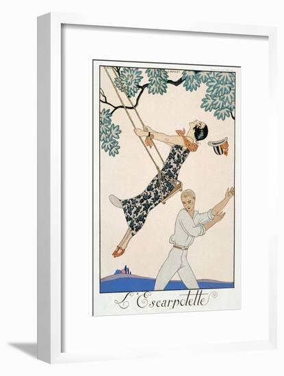 The Swing, 1923-Georges Barbier-Framed Giclee Print