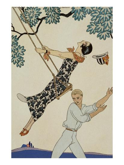 The Swing-Georges Barbier-Giclee Print